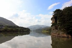 River landscape in South Korea