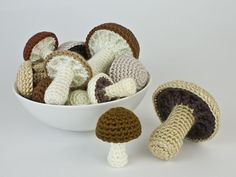Mushroom Collection & Variations crochet patterns Could add rattles and make a baby toy...