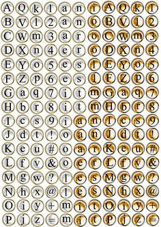 vintage typewriter keys printable - free for personal use