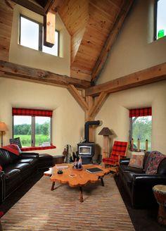 Inline Fiberglass windows in straw bale walls - paintable, high R-value