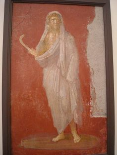 """Saturn with head protected by winter cloak, holding a scythe in his right hand"" - Paintings from the ""House of the Dioscuri"" at Pompeii - Naples Archaeological Museum Winter Cloak, Roman Gods, Pompeii And Herculaneum, Roman City, Spiritual Warfare, Roman Empire, Life Is Beautiful, Mythology, Worship"