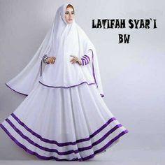 Gamis Syar'i Modern LATIFAH BW - http://warongmuslim.com/gamis-syari/gamis-syari-modern-latifah-bw/