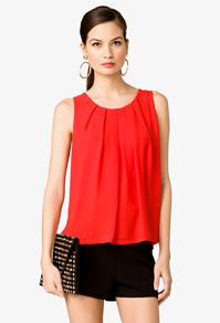 Pleated Georgette Top Forever 21
