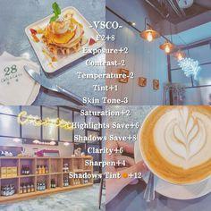 《VSCOの喝喝午茶色調☕️》 APP: VSCO ♡記得之前介紹的一個P5色調嗎?那個是適合木紋桌的,有人問說有沒有適合不是木紋桌的色調咧~(媽呀這句好饒舌)當然有啊!我生出來嚕只是我去的咖啡廳比較偏暗~各位可以試試看你去的地方適不適合這色調❤️❤️ ☆調色如下: F2+8 Exposure曝光+2 Contrast對比-2 Temperature色溫-2 Tint色調+1 Skin Tone膚色-3 Saturation飽和度+2 Highlights Save高亮減淡+6 Shadows Save陰影補償+8 Clarity清晰度+6 Sharpen銳化+4 Shadows Tint orange 陰影色調 橘+12 ♥︎我的照片都是內建相機,無使用其他特效相機(有的話我會註明) --- 我的調色教學都在hashtag #filter_i_use 方便各位搜尋~ --- #vsco #f2 #filter_i_use
