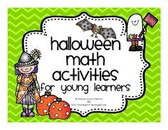 Halloween Math Activities For Young Learners - Rebecca Sutton Anderton-Teaching First - TeachersPayTeachers.com