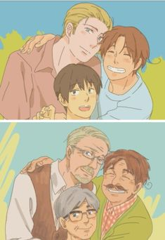 This makes me so sad (T▽T) << AND HAPPY AT THE SAME TIME THEY GREW OLD TOGETHER AS FRIENDS IM CRYING NOW
