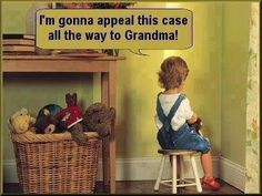 I'm gonna appeal this case all the way to Grandma!