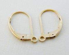 14kt GF Earwires Thin Simple French hook Lever Back