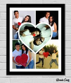 Photos Colage, Photo Frame Crafts, Cute Couple Gifts, Collage Design, Wall Collage, Cute Couples, Diy Gifts, Anniversary Gifts, Diy And Crafts