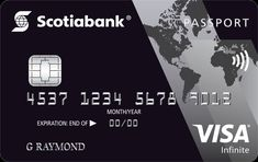 Scotiabank Credit Card - Scotiabank Passport Card is issued by Scotiabank. It is a card, that is loaded with travel benefits and rewards on Best Travel Credit Cards, Rewards Credit Cards, Credit Card Benefits, Best Travel Insurance, Passport Card, Credit Card Transfer, Travel Rewards, Visa, Credit Card Offers