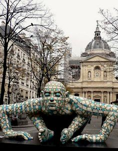 Street Sculpture. Place de la Sorbonne - Paris