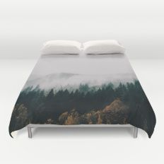 Forest Fog Duvet Cover