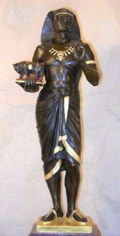 Bronze Egyptian Priest Pharaoh Picault Limited Edition | http://www.cybermarket24.com/bronze-egyptian-priest-pharaoh-picault-limited-edition-of/