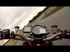 ▶ Jeremy McWilliams riding around Ascari with the KTM 1290 SUPER DUKE R
