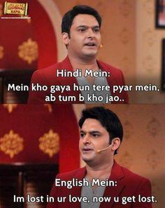 Kapil sharma comedy nights with kapil is the best comedy show Funny English Jokes, Funny School Jokes, Some Funny Jokes, Super Funny Memes, Crazy Funny Memes, Really Funny Memes, Funny Facts, Funniest Jokes, Humor English
