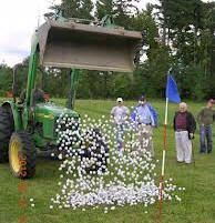 Golf Ball Crafts This ball drop looks like an inexpensive way for a fundraiser that could make some big bucks. Golf balls, tennis balls, ping pong balls, etc. Lots of options.