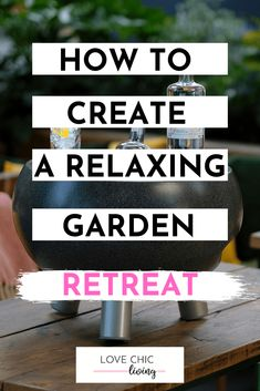 How to design a relaxing garden retreat for any home. Tips ideas and inspiration for small gardens backyards large gardens cottage contemporary and more. Perfect for low maintenance gardens too. maintenance garden ideas tips Back Gardens, Small Gardens, Outdoor Gardens, Contemporary Garden Rooms, Trellis Panels, Garden Inspiration, Garden Ideas, Outdoor Retreat, Low Maintenance Garden