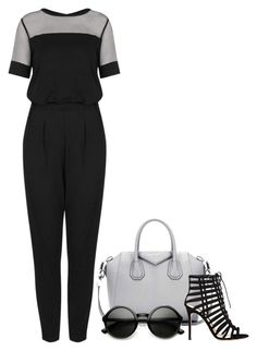 """Jumpsuit..."" by creating-outfits ❤ liked on Polyvore featuring Givenchy, Topshop, Gianvito Rossi and ZeroUV"