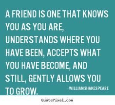 Create picture quotes about friendship - A friend is one that knows you as you are, understands where..