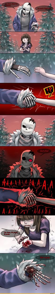 Horrortale Sans meet frisk