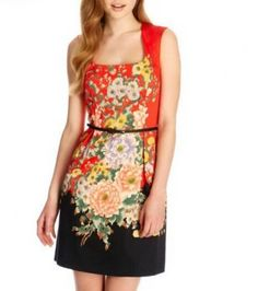 SUMMER NEW FASHION LADIES' POSITIONING SPELL COLOR PRINTING DRESS 2329