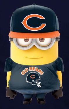 "Chicago Bears Minion:  ""I support 'The Chicago Bears' for no-one else compares!  Theirs is the best team...  Yeah man!  Live The American dream!""  (Written By: Lynn Chateau © )"
