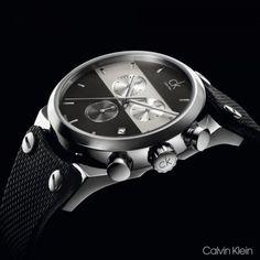 Calvin Klein Eager 'Swiss Made' Chronographs | K4B381B3 K4B384B3, K4B384B6