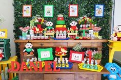 decoração turma da monica com doces