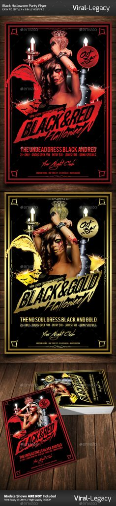 Black Halloween Party Flyer Template PSD #design Download: http://graphicriver.net/item/black-halloween-party-flyer/13083237?ref=ksioks