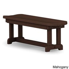 Polywood Park 48-inch Backless Bench (Mahogany), Brown, Patio Furniture (Plastic)