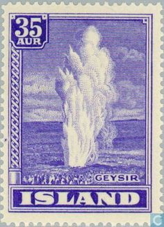 Stamps - Iceland - Geysers 1938