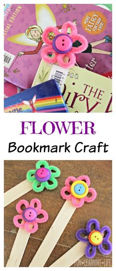 Flower Bookmark Craft (Sponsored by #CraftProjectIdeas)