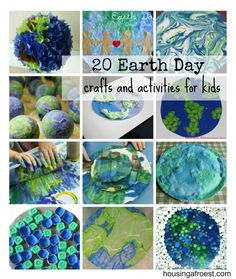 20 Earth Day Crafts and activities for kids! pinterest.com/gilbertDIY