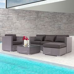 Clear Water Bay Sectional by Zuo Modern | Family Leisure