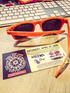 So happy to have our Heyo shades and tickets to Fork and Cork!