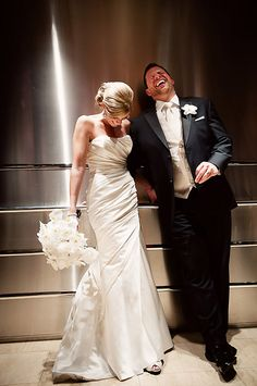 nothing better than laughing with your love! Wedding photo by Krakora Studios via Junebug Weddings