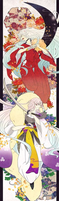 Inuyasha and Sesshomaru, so cool!!! Need this in my room:)