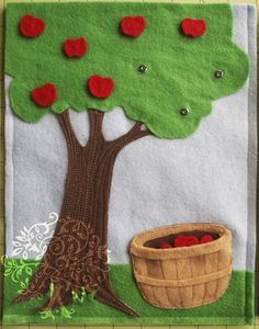 Love tractor, dress-up, garden, mr. potato head, piggy bank & barn pages. Apple tree is probably a bit old for a 1 year old.