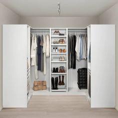 PAX wardrobe – white Hokksund, high gloss black-blue dark blue – IKEA by HadleyLord