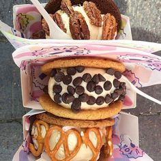 ICE CREAM COOKIE SANDWICHES (AGAIN)  from Blu Top, Kerb: King's Cross and West India Quay, and Druid Street Market - 20 Quirky London Desserts - City Cookie