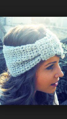 Crochet headband...I want one.