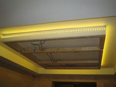 Led strip light around suspended ceiling