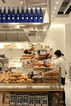 Retail - cafe and bakery display.