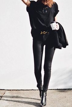 minimalistic minimalism black grunge rock style fashion outfit clothes chic