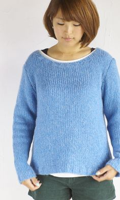 作品♪213fw-05ボートネックのセーター