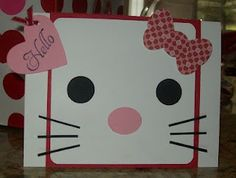 Hello Kitty card all done with punches! I made this for Zamarah's 2nd birthday!