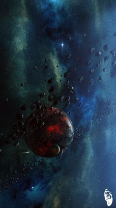 Red Planet with Asteroid belt