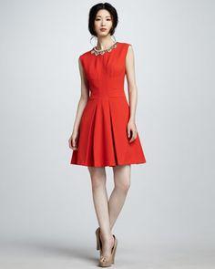 Bead-Neck Sleeveless Dress - Neiman Marcus