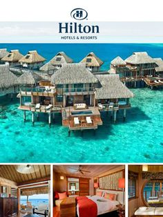 Bora Bora Hilton! Absolute dream holiday destination!... http://youtu.be/4TyQZw2YgkI Find a cheaper flight, hotel, vacation package, rental car, or activity within 24 hours of booking... http://biguseof.com/travel