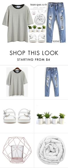 """""""#ROMWE"""" by credentovideos ❤ liked on Polyvore featuring Zara, Bloomingville, Brinkhaus, Muse, women's clothing, women's fashion, women, female, woman and misses"""